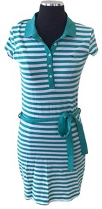 Lacoste short dress green with white on Tradesy