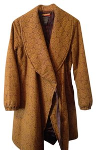 Brooklyn Industries Boho Bohemian Autumn Yellow Mustard Brown Jacket