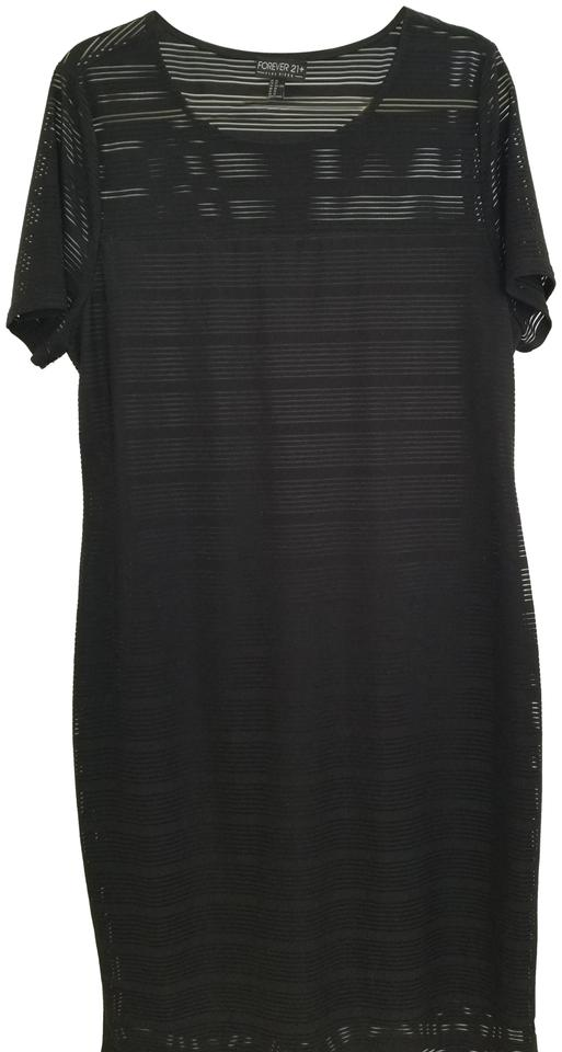 a010f703d12 Forever 21 Black Mid-length Cocktail Dress Size 22 (Plus 2x) - Tradesy