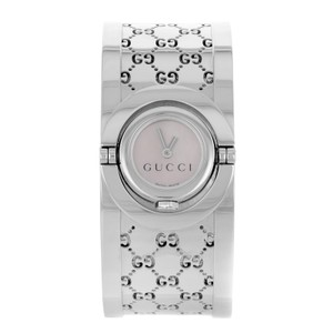 be496a140ab Gucci Pink Mother Of Pearl Stainless Steel Twirl 112 Quartz 23mm ...