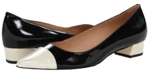 Kate Spade Patent Leather Leather Sole Heel Black/White Pumps
