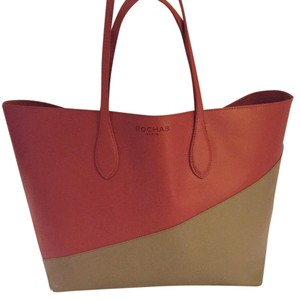 Rochas Tote in Pink / Gray