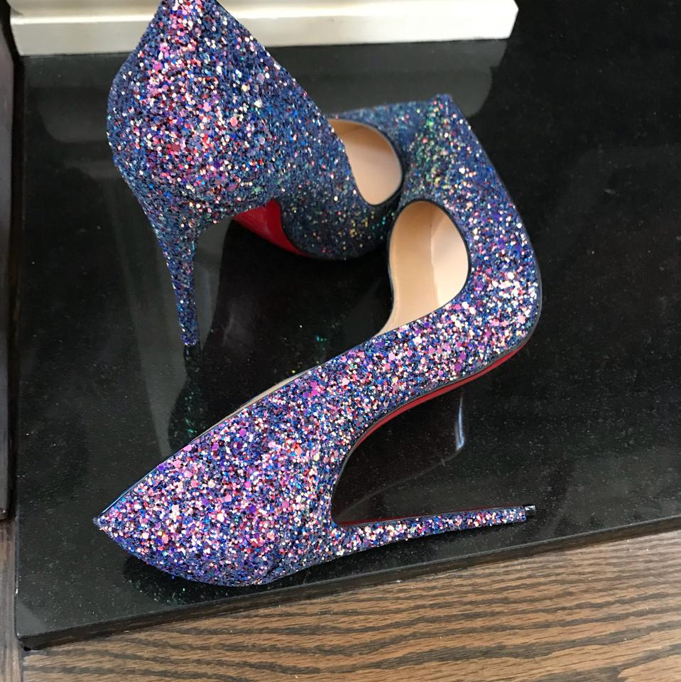 b14ed8a832bd Christian Louboutin Blue So Kate Glitter Dragonfly China Stiletto Pumps  Size EU 36 (Approx. US 6) Regular (M, B) - Tradesy