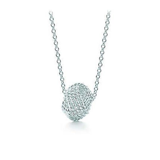 Tiffany co silver twist knot pendant necklace tradesy tiffany twist knot pendant mozeypictures Image collections