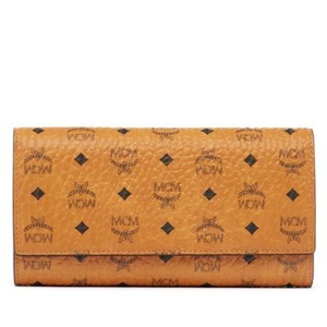 MCM two fold leather wallet