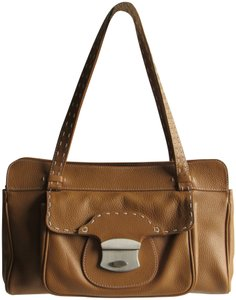 Ashneil Handbags Leather Bags Satchel in Tan