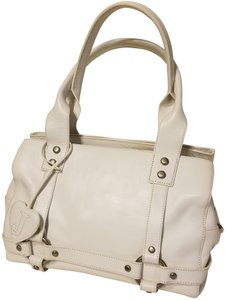 Juicy Couture Silver Hardware Vintage Satchel in White