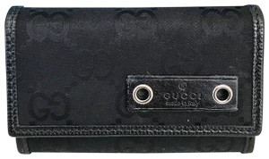 Gucci Gucci Black GG Web Nylon Key Case
