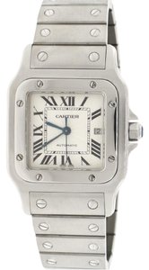 Cartier Santos Galbee Large Silver Roman Dial Automatic Steel 29MM W20055D6