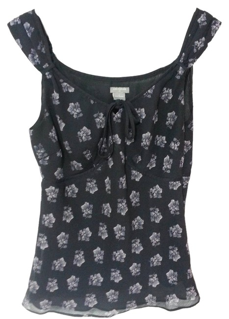 Preload https://item4.tradesy.com/images/ann-taylor-black-floral-sleeveless-blouse-size-4-s-2301018-0-0.jpg?width=400&height=650