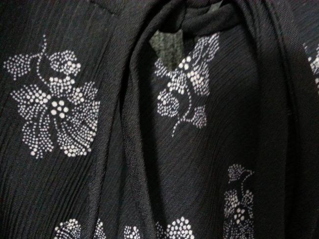 Ann Taylor Floral Workwear Top Black