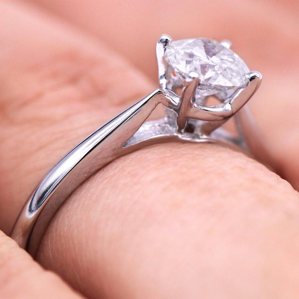 Certified 0.90 Carat Solitaire Diamond Engagement Ring - Tradesy