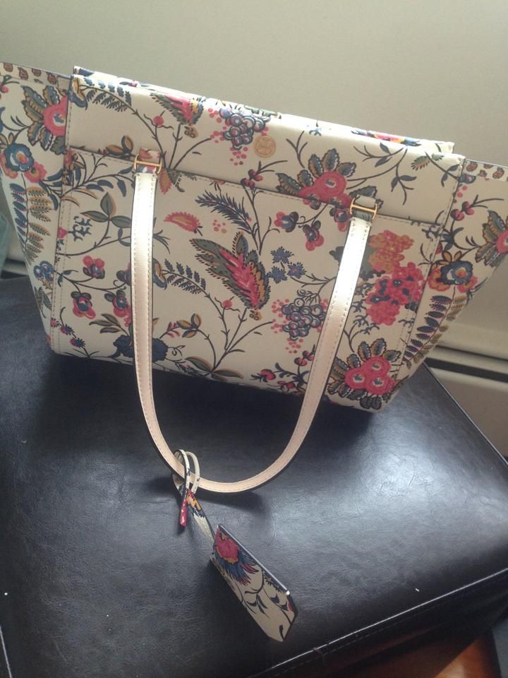 8c42f8d0 Tory Burch Bag Parker Small Gabriella Floral Print Leather Tote