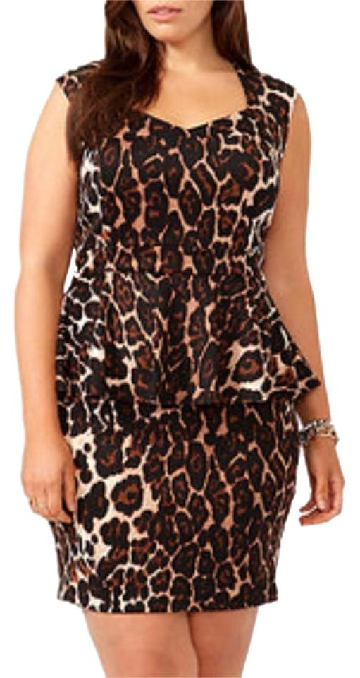f67ec230d4e Forever 21 Sleeveless Pencil Print Sweetheart Plus-size Party Date Sexy  Women Plus Cute Dress ...