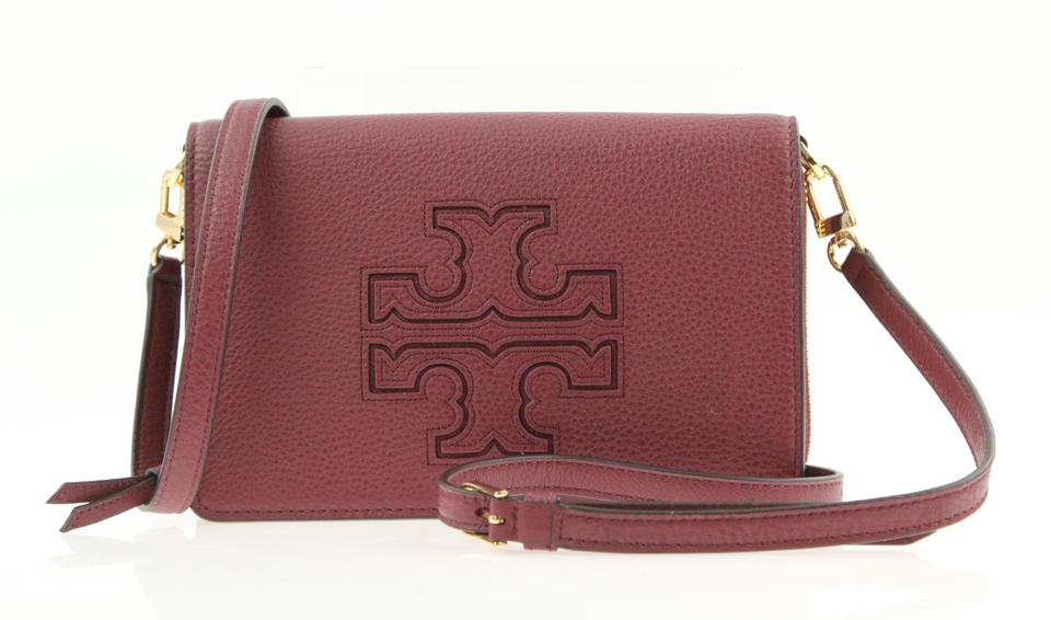 a51dabb1f40 Tory Burch Harper Flat Wallet Red Leather Cross Body Bag - Tradesy