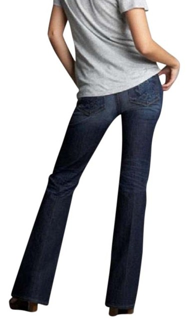 Item - Med Blue Distressed Hollywood Hills Boot Cut Jeans Size 30 (6, M)
