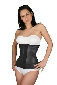 waist trainer Sport Waist Latex 3 Hooks Girdle Top Black
