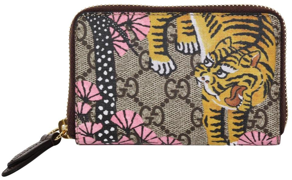 760a284ccc46 Gucci NIB GUCCI 452357 GG Supreme Bengal Zip Card Case Wallet, Multicolor  Image 0 ...