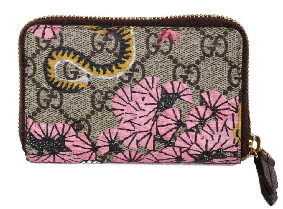 543eb882872a Gucci NIB GUCCI 452357 GG Supreme Bengal Zip Card Case Wallet, Multicolor  Image 7. 12345678