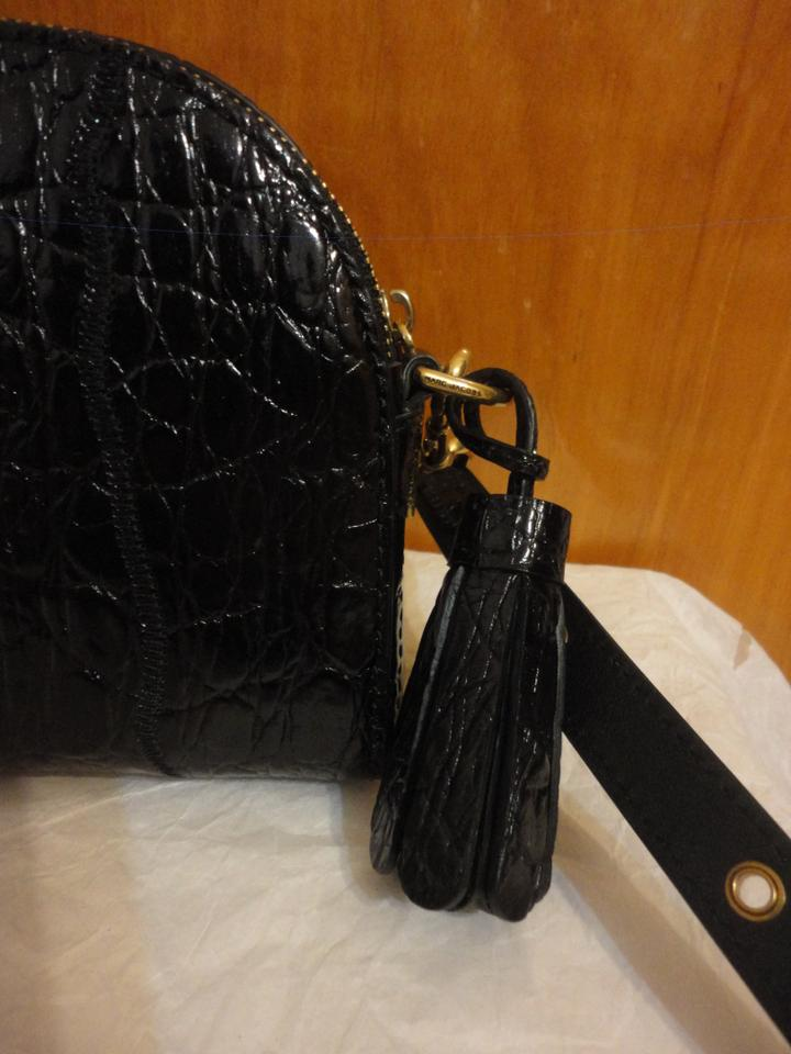 7f401e88bf8b Marc Jacobs Shutter Croc Embossed Camera Black Patent Leather Cross ...