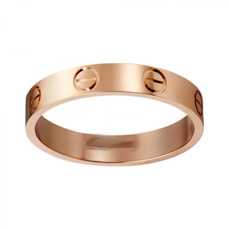 Cartier love wedding band rose gold ring tradesy cartier cartier love wedding band rose gold junglespirit Image collections