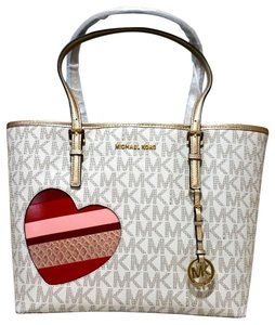 e41d37790ac5 Michael Kors Candy Reversible Includes Pouch Red Tote in multicolor