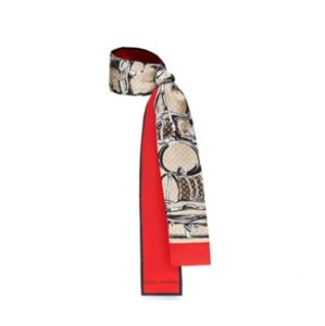 Louis Vuitton New Monogram Trunks Bandeau Red Scarf Wrap