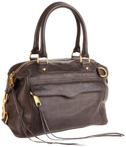 Rebecca Minkoff Mab Mini Satchel in Charcoal