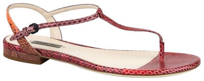 Item - Red/Orange New Python Flat Thong It 38/ 8 338258 8740 Sandals Size EU 38 (Approx. US 8) Regular (M, B)