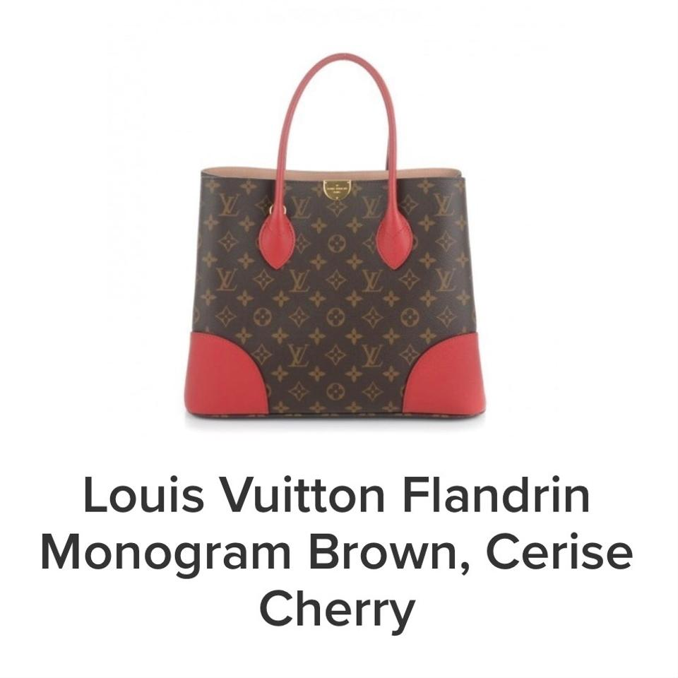 6687044a125 Louis Vuitton Flandrin With Cherise Cherry Monogram Canvas and Leather Trim  Tote 9% off retail