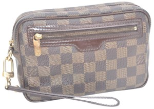 Louis Vuitton Damier Pochette Billets Macao Brown Clutch