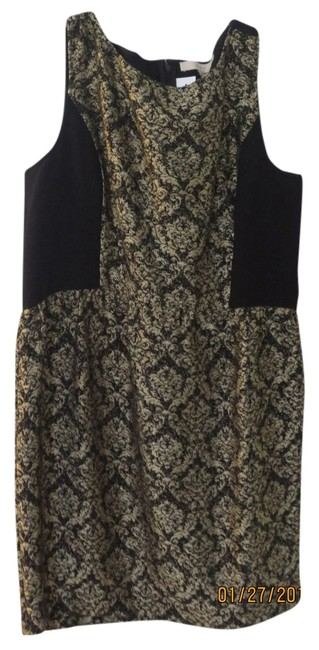 Preload https://item5.tradesy.com/images/ann-taylor-black-and-gold-above-knee-cocktail-dress-size-14-l-2301184-0-0.jpg?width=400&height=650