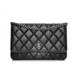 e4b80c5e51f7 Chanel Perforated Wallet On Chain Cross Body Bag