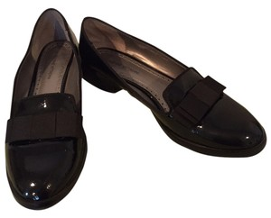 Adrienne Vittadini Patent Leather Slip On Black Flats