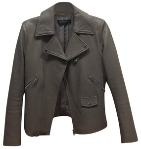 Zara Dark taupe Leather Jacket