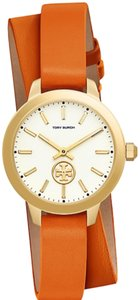 Tory Burch Tory Burch Collins double wraps , leather /stainless steel 32mm