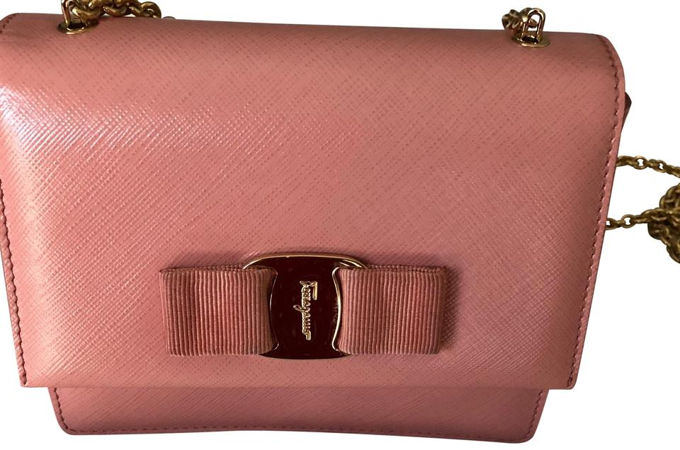 db89f880d6eb Salvatore Ferragamo Mini Ginny Crossbody Shoulder Blush Pink ...
