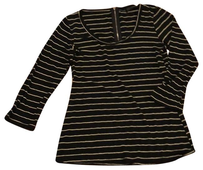 Item - Black and White Striped Tunic Size 4 (S)