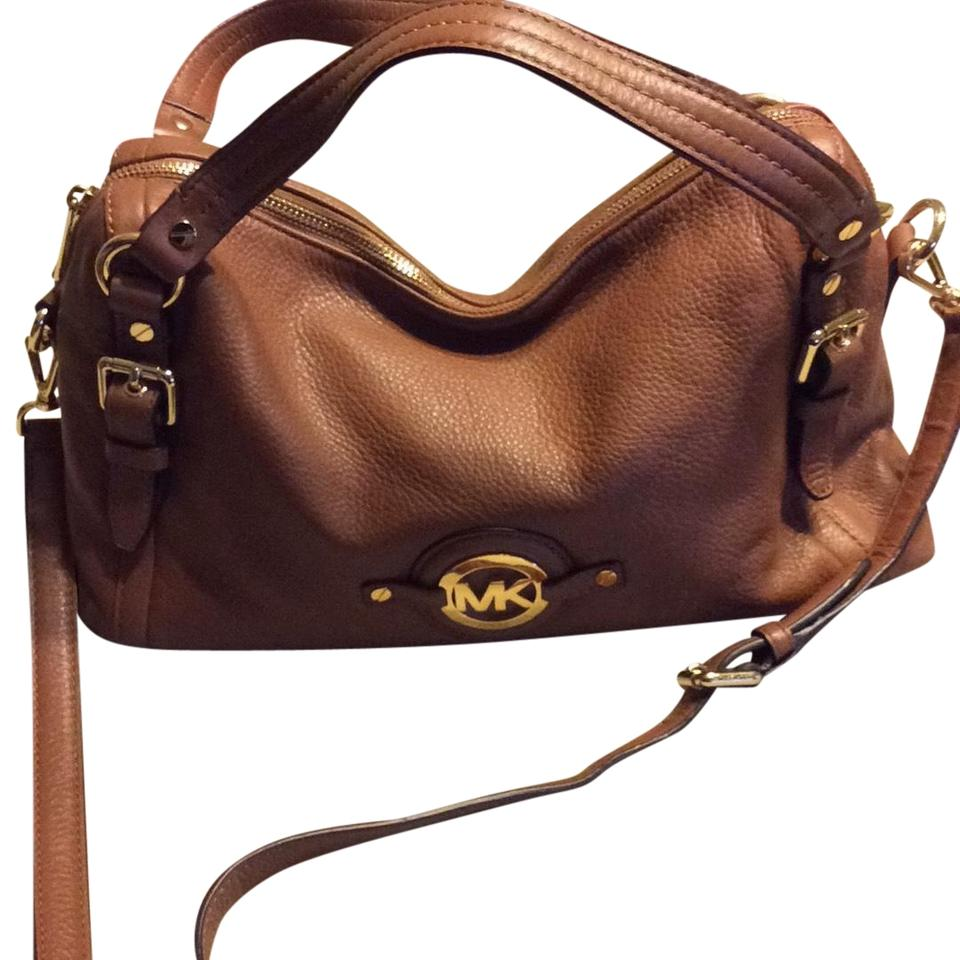 bf011ec74246f5 MICHAEL Michael Kors Camel Leather Satchel - Tradesy