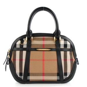 Burberry Satchel in Burberry check with black trim