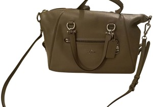 Coach Leather Satchel in Taupe