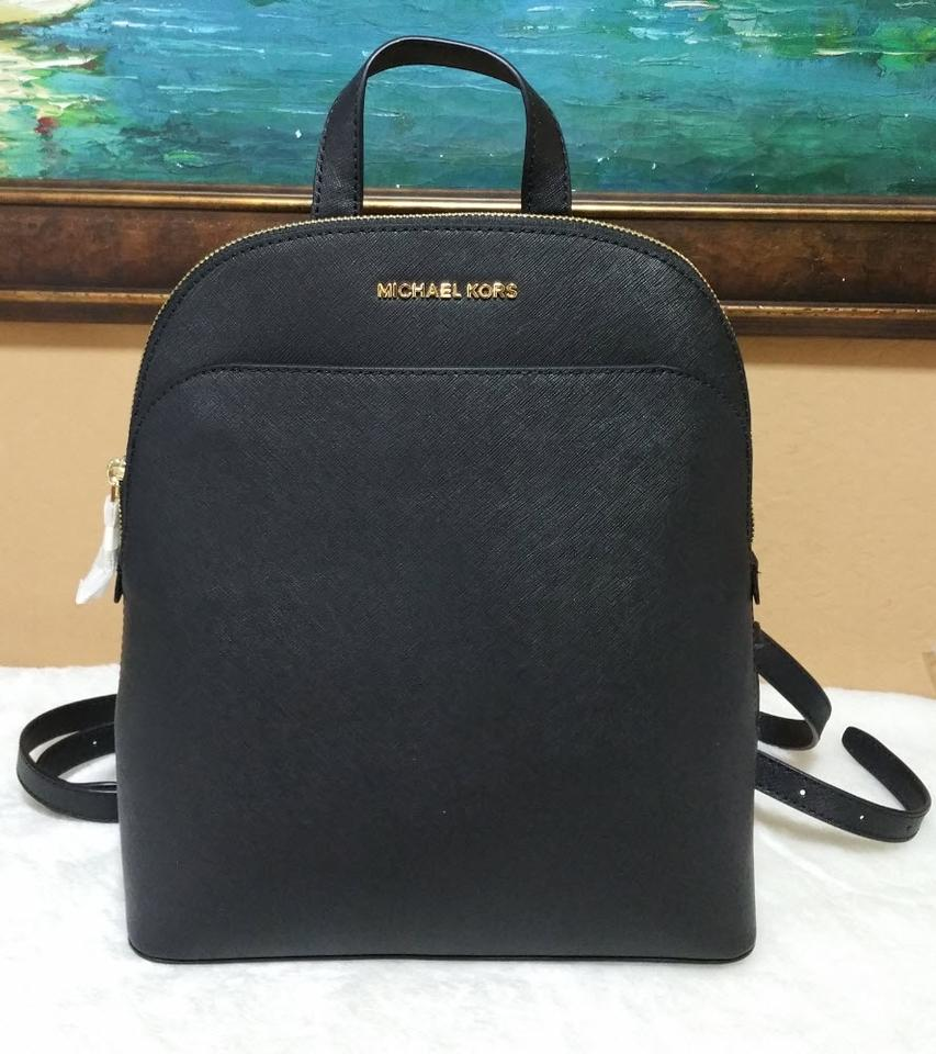 e2d54ee62b99a0 Michael Kors Emmy Black Leather Backpack - Tradesy