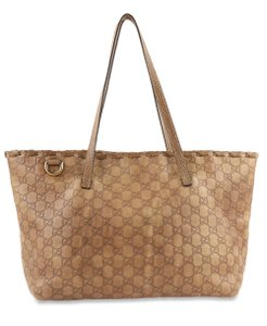 Gucci Guccissima Leather East West Tote in Brown