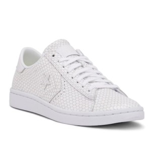 Converse Snake Embossed Leather Oxford Sneaker White Athletic