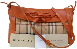 Burberry Leather Messenger Knots Cross Body Bag