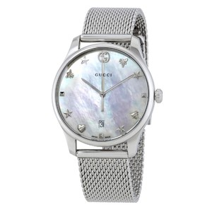 Gucci Swiss Made G-Timeless Mother of Pearl Dial Ladies Bracelet Dress Watch