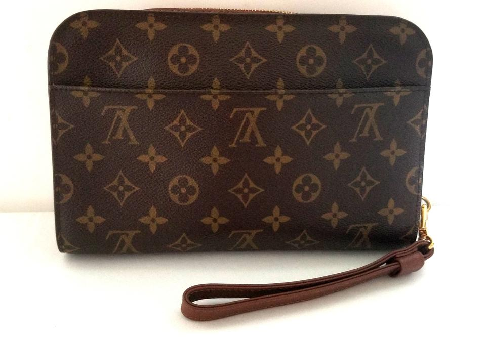 b89368f2b9a2 Louis Vuitton Pochette Unisex Mens Bags Clutch Phone Wristlet in Monogram.  123456789101112