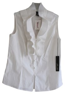 Willi Smith Ruffle Top White