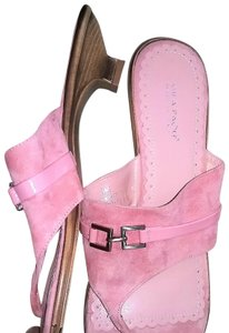 Mila Paoli Suede Italy Pink Sandals