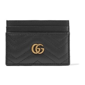 Gucci Marmont quilted leather card case holder